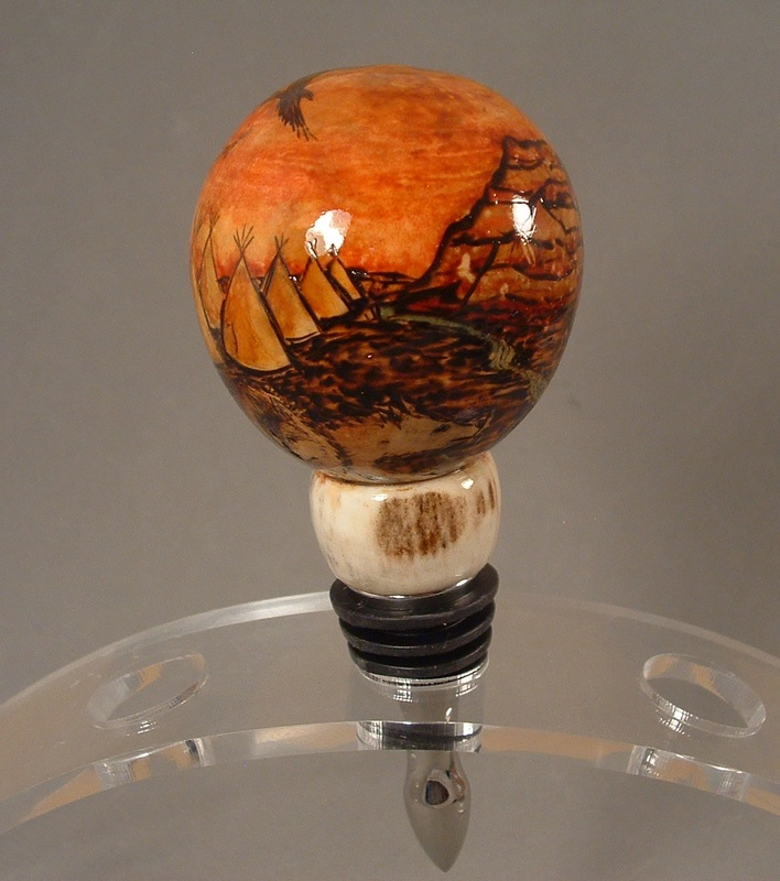 Gourd Bottle Stoppers Rescued Firewood Handcrafted Pens